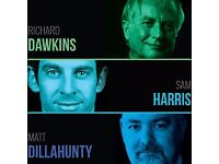A Celebration of Science and Reason - Richard Dawkins, Sam Harris x2 tickets, Hammersmith Apollo