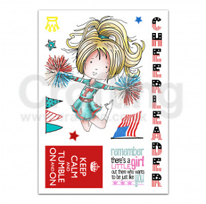 Tatty Twinkle clear Stamps - Cheerleader - $10