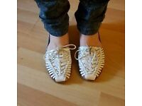 OFFICE Woven leather Sandals
