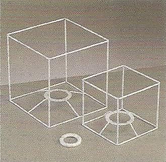 Lampenschirm quadrat 10 cm 10/10 cm weiß