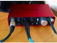 Scarlett 2i2 USB interface (2ND GEN) - with box / manual