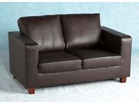 Brown leather sofa 3 and 2 brand new £120
