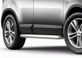 BRAND NEW GENUINE NISSAN QASHQAI J10E STAINLESS STEEL SIDE BARS LEFT AND RIGHT KE543JD110