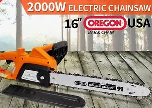 """BRAND NEW 2000W Electric Chainsaw with 16"""" OREGON Bar & Chain South Yunderup Mandurah Area Preview"""