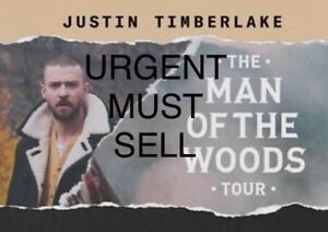 **Urgent** Justin Timberlake March 13th 7:30pm BELOW face value