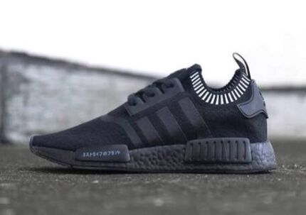 NMD R1 Japan Triple Black W/ Limited Edition White Collar