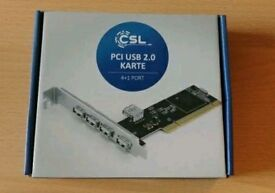 CSL PCI USB 2.0 card 4 + 1 port