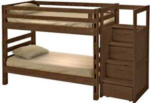 Bunk Bed with Staircase and Trundle and Dresser