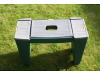 Garden kneeler and stool-used; sturdy and includes storage