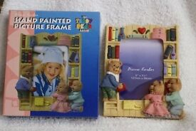 Pierre Farber Hand Painted Picture Frame 'The Teddy Bear Range' Photo Frame - Brand New