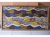 Genuine Aboriginal Art (canvas)