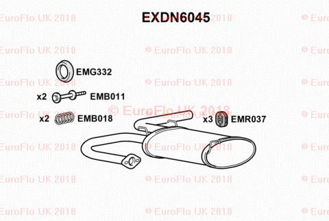 Nissan X-Trail T30 2.0 2.5 ATV/SUV 01-07 Rear Exhaust