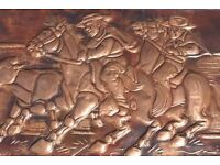 This is a genuine handmade real copper plaque, made in Chile