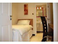 Modern room with en-suite in Baker Street