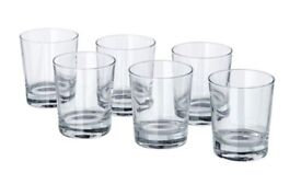 12 x Ikea short Glasses (Godis) perfect for cocktails New