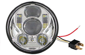 """Motorcycle 5.75"""" 5-3/4'' Headlight Daymaker Projector LED DRL Bu"""
