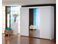 Large 1 mirror 3 Door Sliding Wardrobe