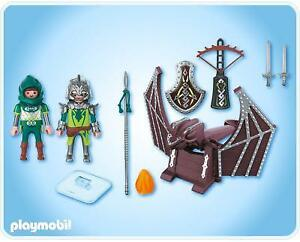 Playmobil CHEVALIERS 4840 Dragons verts et catapulte