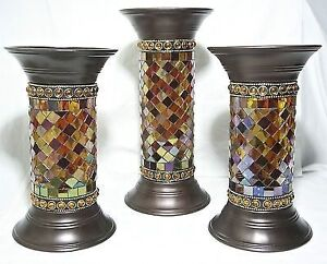 PARTYLITE GLOBAL FUSION PILLAR HOLDERS
