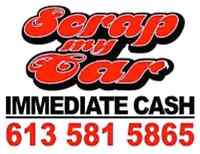 Scrap car removal! Best payout!