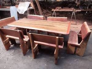 7 Piece Rustic Dining Setting Gin Gin Bundaberg Surrounds Preview