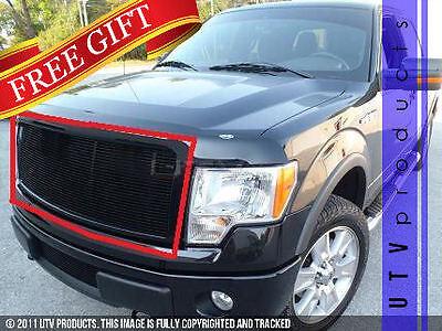 GTG 2009 - 2012 Ford F150 1PC Gloss Black Upper Insert Billet Grille Grill