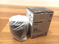Like New Panasonic 25mm f/1.7 ASPH. for Micro Four Thirds cameras