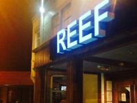 Large Neon 'REEF' Sign