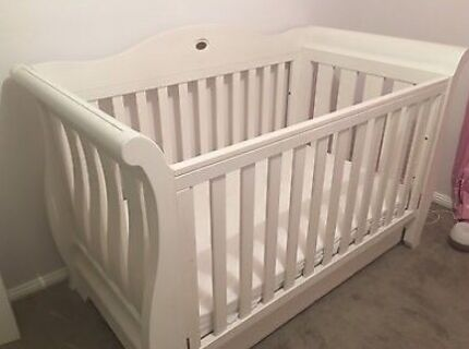 Boori Sleigh Royal Cot/Toddler Bed