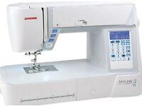 Janome Skyline S3 Computerised Sewing Machine NEW | Atelier 3 in UK |7mm + Bonus