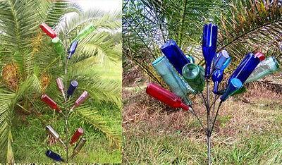 (2) BOTTLE TREES Wine Garden Yard Landscape BOTTLETREE -Solid - Wine Bottle Trees