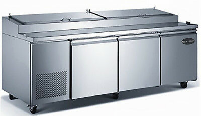 Heavy Duty 91 Commercial Three Door Pizza Prep Table