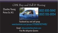 Truck and enclosed trailers for moves, Dump runs in Pictou Co