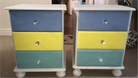 Pair of upcycled Bedside cabinets