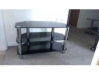Sylish glass and chrome effect TV, DVD and more stand. Excellent condition.
