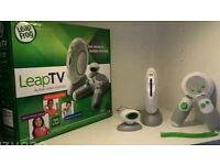 Leapfrog leap tv **in box used once** + 4 games & 2nd controller