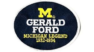MICHIGAN STATE LEGEND GERALD FORD PRESIDENT NCAA COLLEGE FOOTBALL JERSEY PATCH