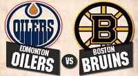 Edmonton Oilers Boston Bruins Dec 2 many great seats available.