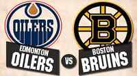 Edmonton Oilers Boston Bruins Dec 2 many great seats available.