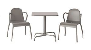 IKEA TUNHOLMEN Table+2 chairs, outdoor, gray - perfect for patio