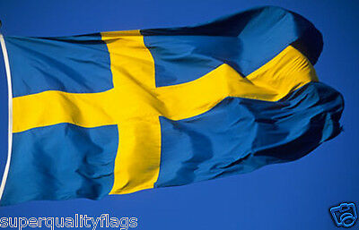 NEW 2x3 ft SWEDEN SWEDISH FLAG WITH BRASS GROMMETS