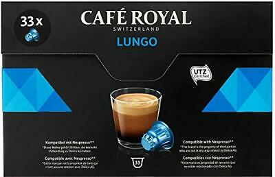 Café Royal Lungo Coffee Pods Compatible with Nespresso System, 174 g, 33-Count