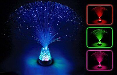 Sensory Colour Changing Fibre Optic Lamp Crystal Light Up Mood Lamp