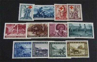 nystamps Liechtenstein Stamp # 166//195 B15-B17 Mint OG H $20   L23y620