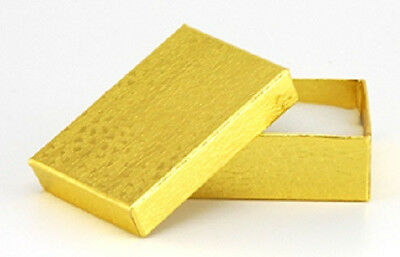 Wholesale 100 Small Gold Cotton Fill Jewelry Gift Boxes 178