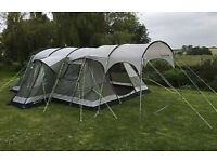 Outwell Montana 6 Person Tent, with front canopy and Outwell 6 carpet