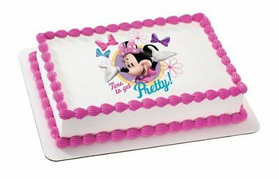 Minnie Mouse Edible Cake Topper Decoration for 1/4 sheet cake - Minnie Mouse Cake Decoration