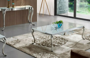 lioness stainless steel coffee table on sale