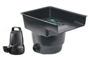 Waterfall home garden ebay for Small pond pump filter combo