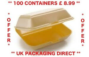 Cheap Polystyrene Foam Takeaway Food Boxes 100 Offer Fish Chips Burger Box HP2